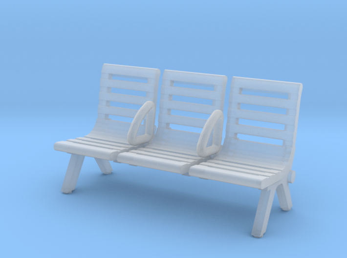 Modern Seat - Type 3 - HO Scale 3d printed