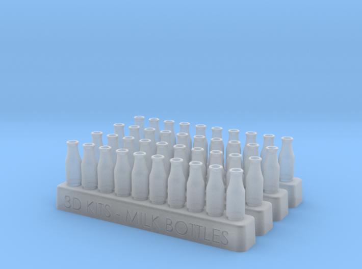40 Empty milk bottles 3d printed