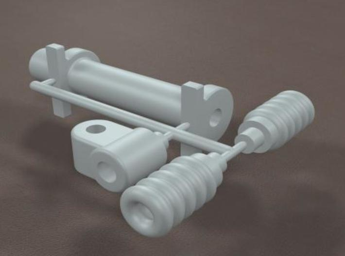 1/16 Generic Rack and Pinion Steering unit 3d printed