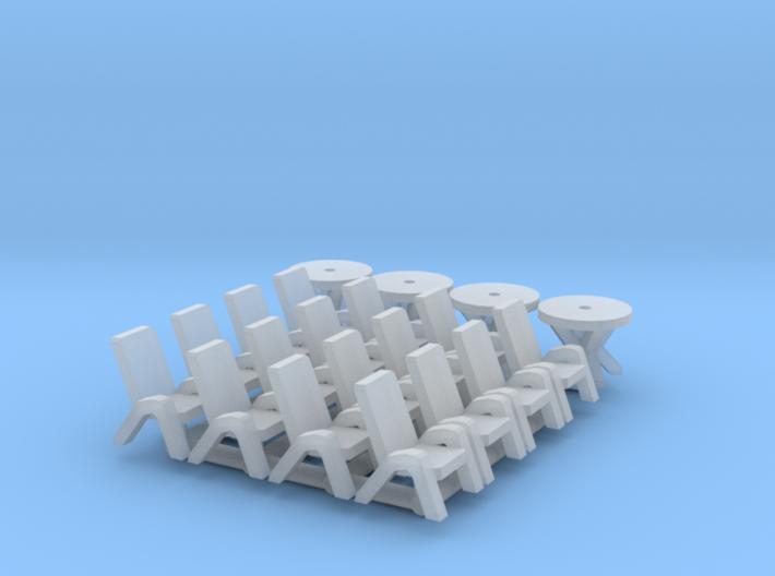 4x SET Gartenmöbel (N 1:160) 3d printed