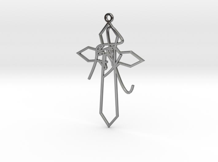 Personalised Astrological Eastern Cross Earring 3d printed Personalised Astrological Eastern Cross Earring