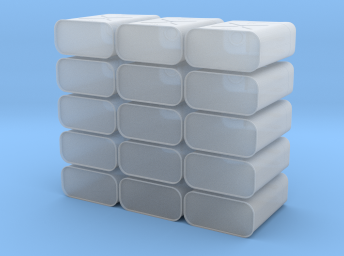 15 Jerry Cans 3d printed