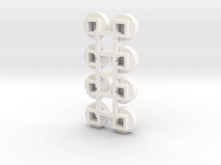 1/64 Circular Bin Roof Vent (8) 3d printed