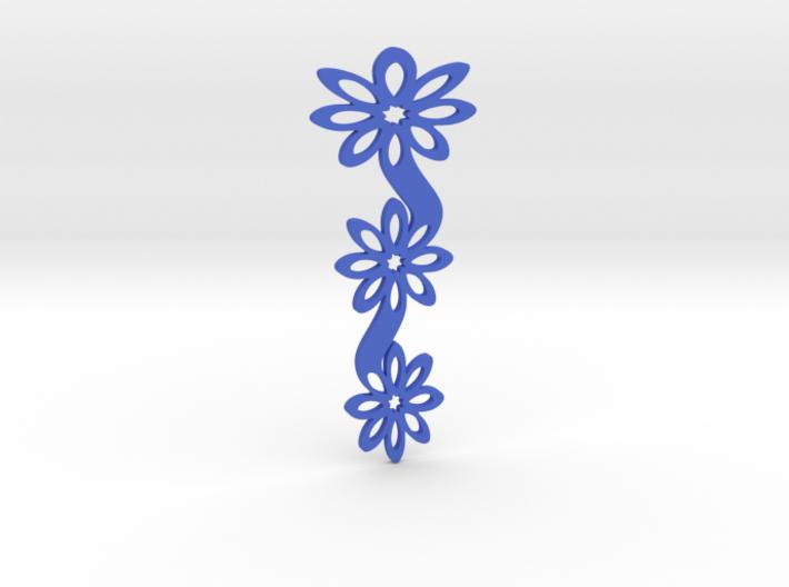 Floral bookmark - variant I 3d printed