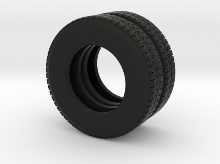 """22.5"""" Dual tire pair for trucks and trailers 3d printed"""