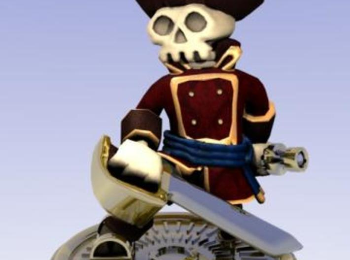 Captain Skully 3d printed HD render.