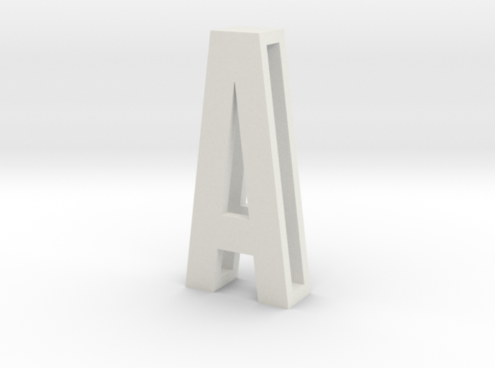 SLIDE LETTERS (extra sizes) A 3d printed