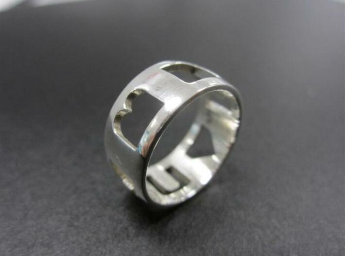 I Heart U ring (women) 3d printed