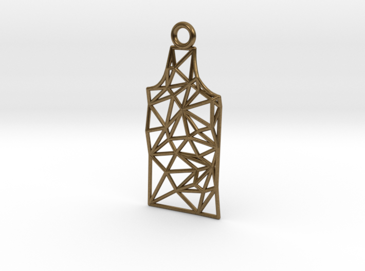 Amsterdam Canal House Wireframe Pendant 3d printed