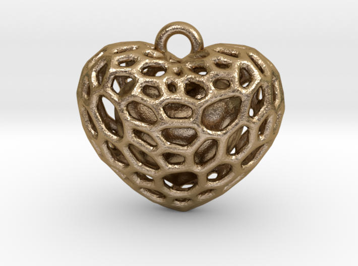 Voronoi heart with one heart inside 3d printed