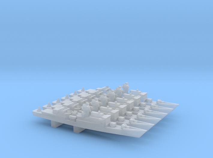 Chi Yang-class Frigate x 6, 1/6000 3d printed