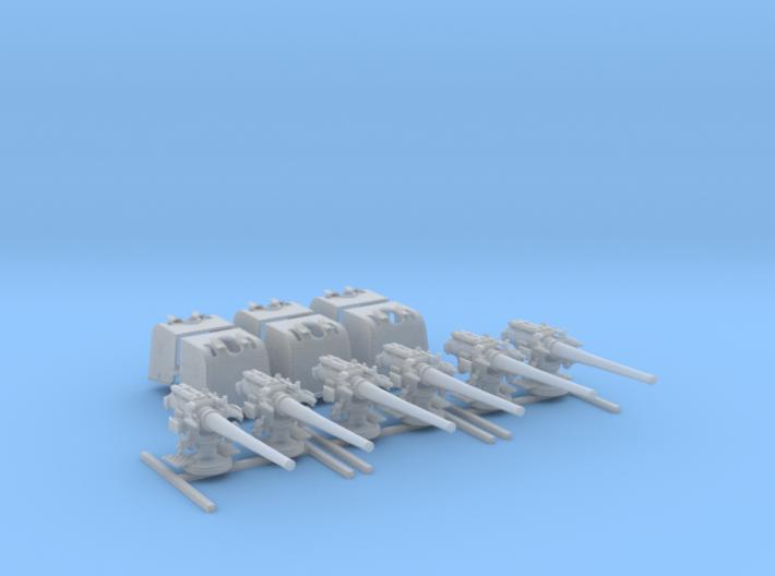 "1/192 6""/45 BL Mark XII D Class Cruisers x6 3d printed 1/192 6""/45 (15.2 cm) BL Mark XII D Class Cruisers x6"