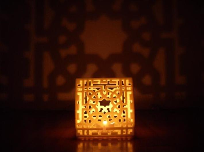 Arabesquebus Tealight 3d printed Arabesquebus Tealight
