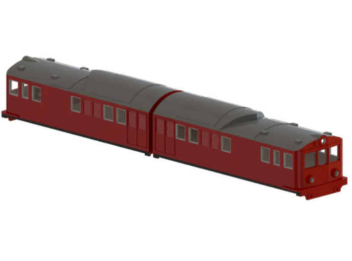 Swedish SJ electric locomotive type Of with steel  3d printed CAD-model
