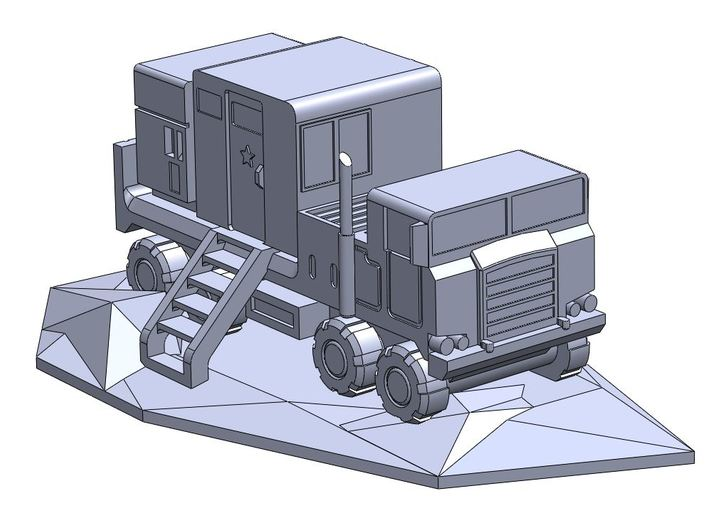 Pershing 1-A PTS/PS Truck 3d printed Solidworks model