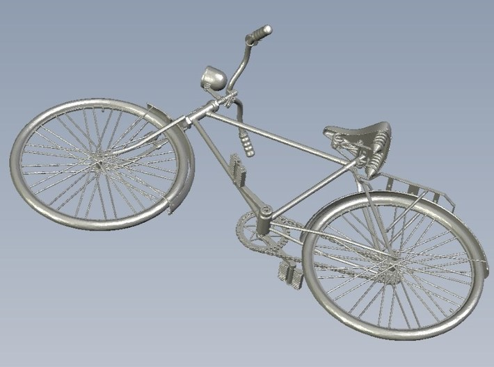 1/20.3 scale WWII Wehrmacht M30 bicycle model x 1 3d printed