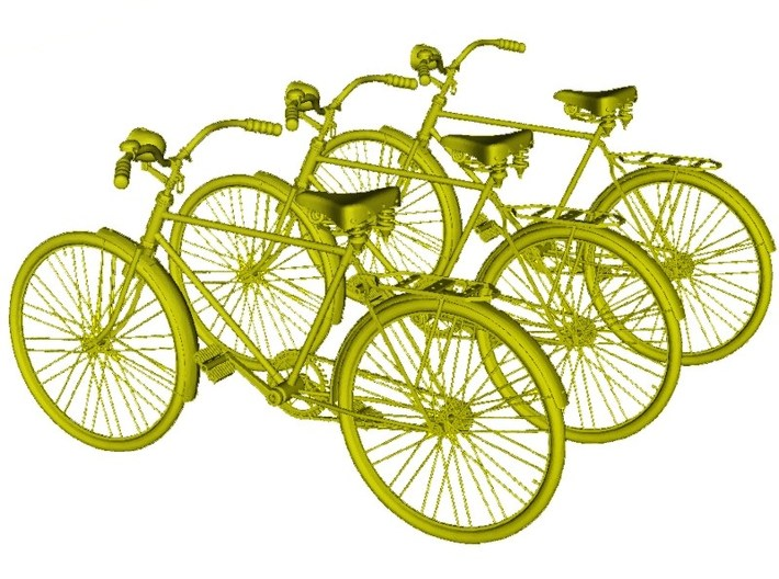 1/20.3 scale WWII Wehrmacht M30 bicycle models x 3 3d printed