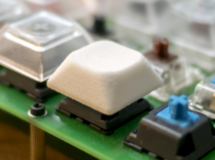 DSA Like Low Height Keycap 3d printed This is White Strong & Flexible material.