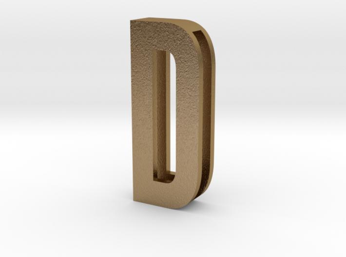 CHOKER SLIDE LETTER D 1⅛, 1¼, 1½, 1¾, 2 inch sizes 3d printed