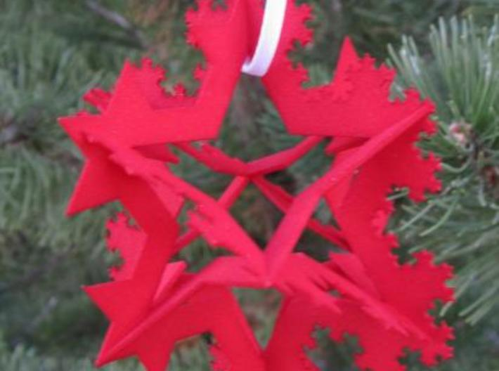Koch Fractal Ornament 3d printed On Christmas Tree
