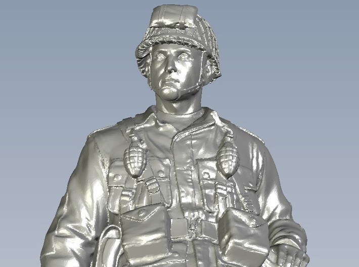 1/18 scale D-Day US Army 101 Airborne soldier 3d printed