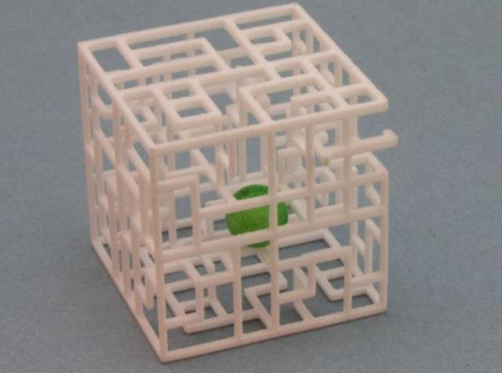 Floating Labyrinth 666 3d printed Ball in maze