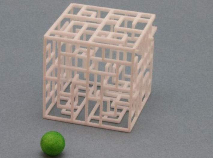 Floating Labyrinth 666 3d printed 6x6x6 Maze with Ball