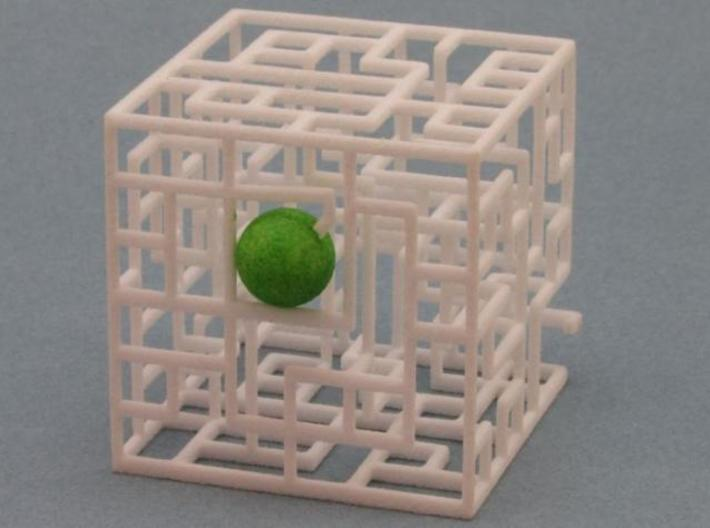 Floating Labyrinth 2-pack 666 3d printed Ball at Entrance