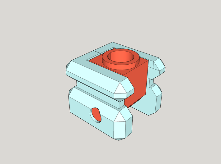 CW joint plugs with 5mm Adaptors 3d printed An illustration of how the parts assemble