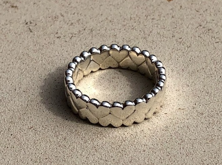 SMALL HEARTS RING  3d printed