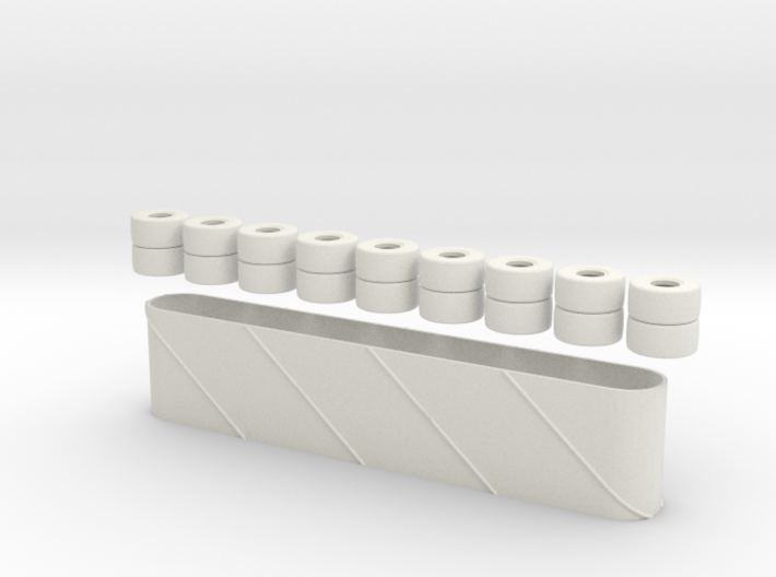 Tires Wall (1/43) 3d printed