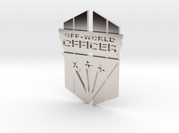 Off-World Officer Badge 3d printed