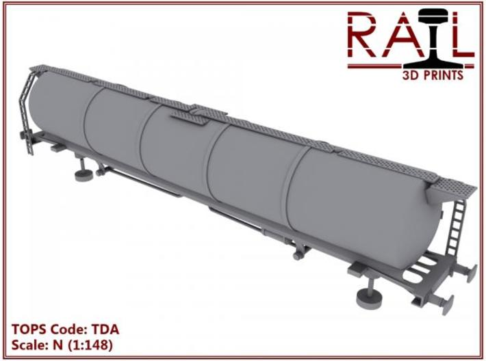 TDA Murco Tank Wagon N Scale 3d printed Render of the TDA Model.