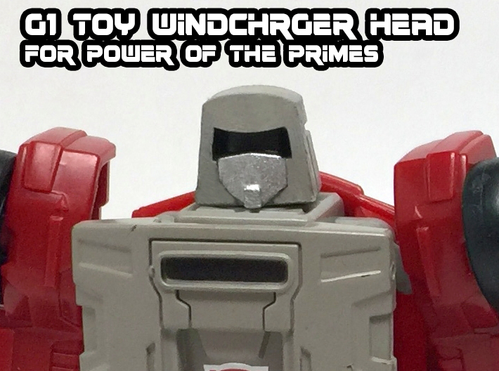 Windcharger (G1 Toy) Head for PotP 3d printed hand painted black acrylate print