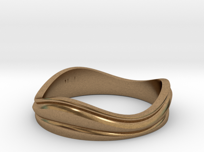 Ebb and Flow Band No.7 - Pinch me, size 7 3d printed