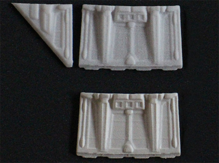 MF_engineflaps_v0.2_complete set 3d printed Above: out of box, doen: primed 1x