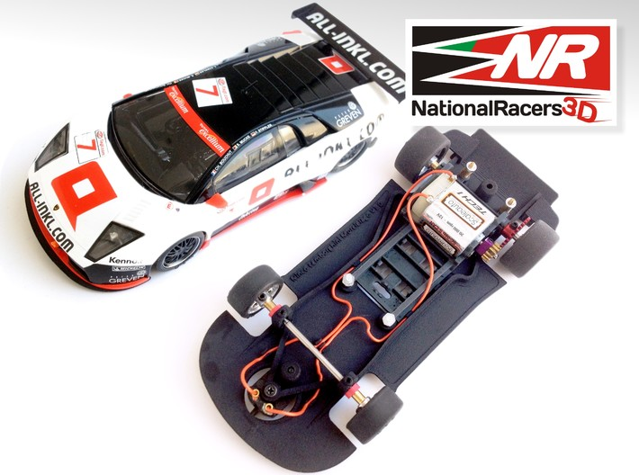 3D Chassis - Ninco Lamborghini Murcielago (AW/SW) 3d printed Chassis compatible with NINCO model (slot car and other parts not included)