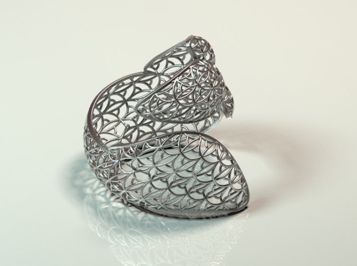Leaf Bangle 3d printed