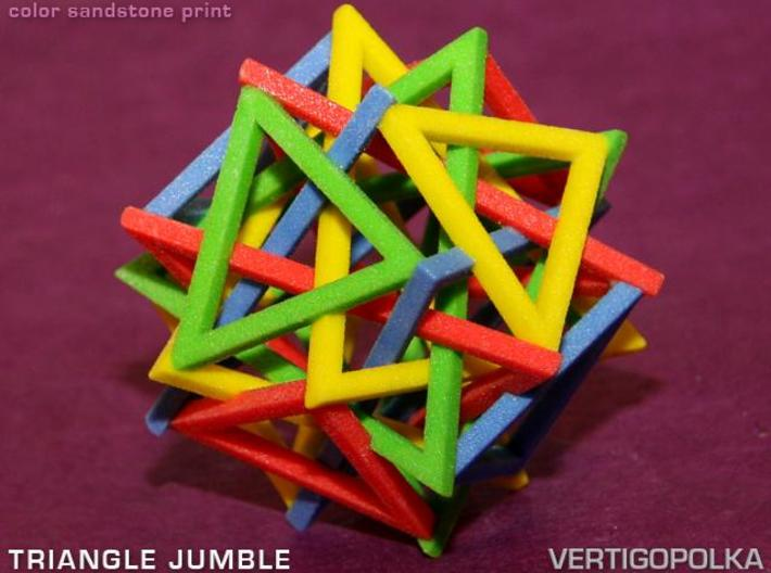 Triangle Jumble 3d printed color sandstone print