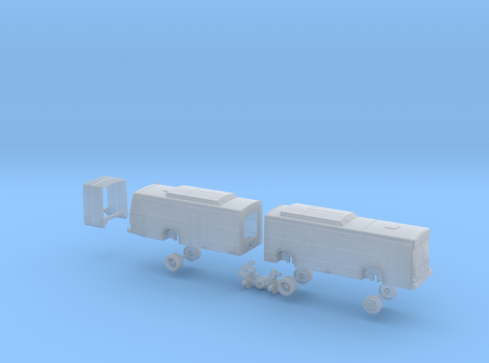 N Scale Bus New Flyer D60 Samtrans 500s 3d printed