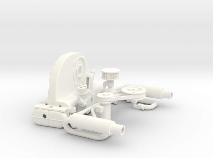 Scale engine replica for tamiya sand scorcher and  3d printed