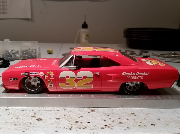 Carrera Vintage Nascar, Dodge, Plymouth, late 60s/ 3d printed
