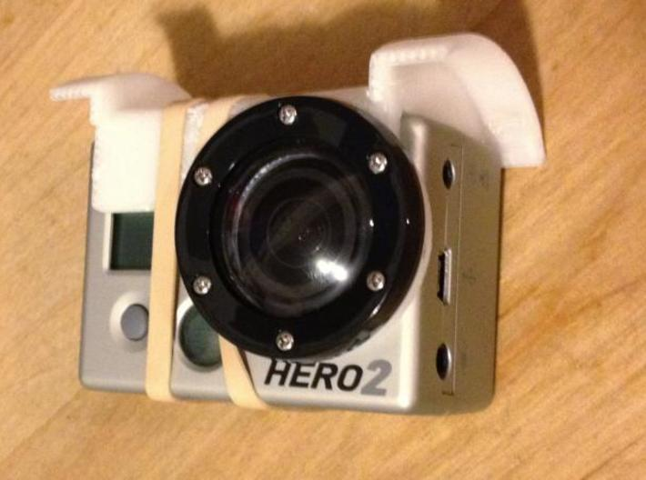 GoPro adjustable mount for arDrone 1 3d printed