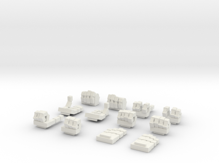 MG Wing Expressive Hands VALUE PACK 3d printed