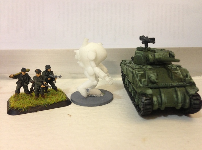 "PanzerAnzug ""WWII"" German Power Armour for 15mm 3d printed Side view"