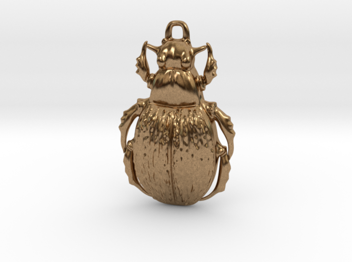 Green Carab Beetle pendant 3d printed