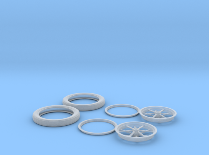 1/12 Spindle Mount Drag Tire And Wheel 3d printed