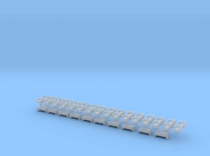 Lounge type Seats for Heavyweight Passenger Cars 3d printed