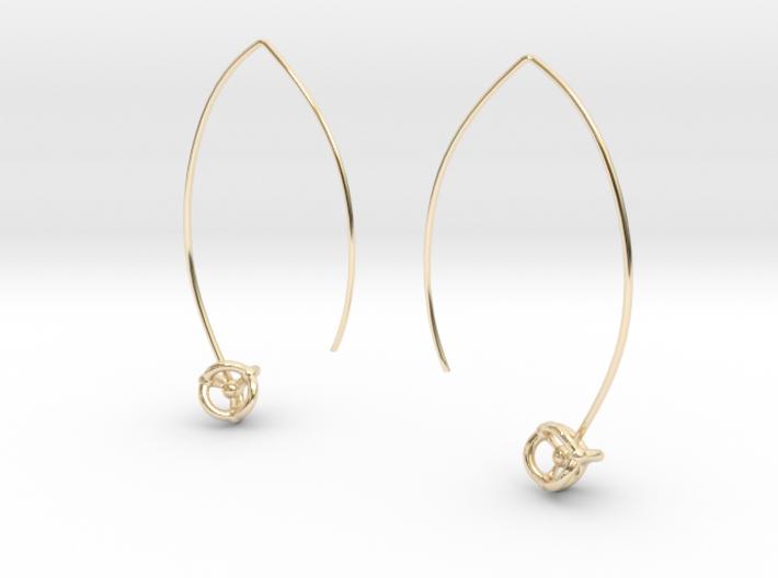 Universe Hoop Earrings 3d printed