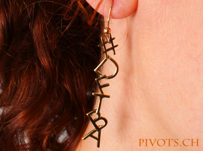 #Hashtag-Earrings - DFTBA 3d printed Model wearing DFTBA earrings